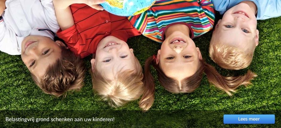 Belastingvrij grond schenken aan uw kinderen!